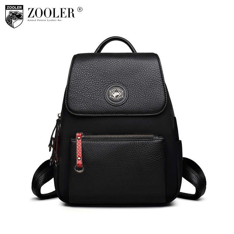 ZOOLER Fashion Women Backpack High Quality cowhide Backpacks for Teenage Girls/  boy School Shoulder Bag Backpacks mochila D103 high quality anime death note luminous printing backpack mochila canvas school women bags fashion backpacks for teenage girls