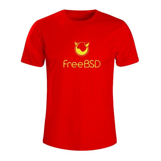 2017 new summer fashion Freebsd T-SHIRT Geek NERD freak hacker pc gamer systems programmer males tees boys big over size