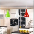 Modern Style Pendant Lamp Dia16cm*H120cm Kitchen Pendant Light Aluminum/ Chrome 110-240V Three Colors Dinning Light