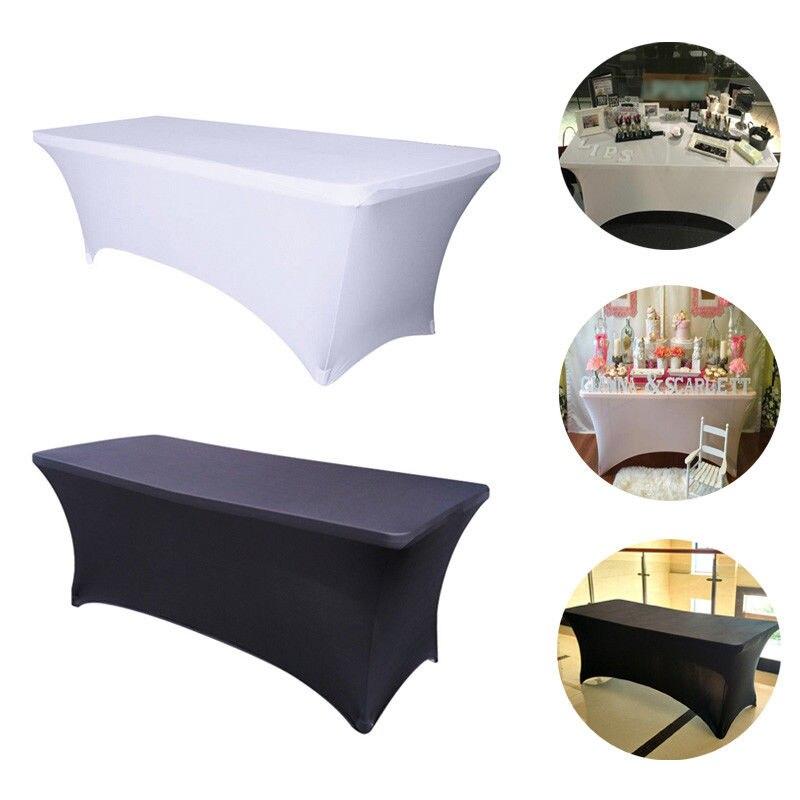 Rectangular Spandex Lycra Table Cover Stretch Bar Tablecloth For Wedding Party Hotel Decoration пляж на самуи