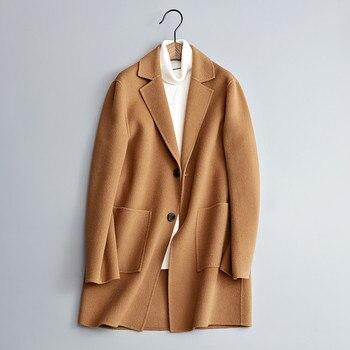 2018 new arrival winter coat men high quality wool Classic trench coat men,men's fashion casual jacket plus-size M-XXXL