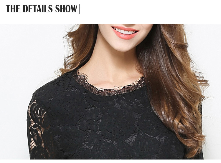 Europe fashion 2017 Spring new Slim Lace Patchwork dresses women Elegant half sleeve Floral Print Party Work OL dress vestidos 8
