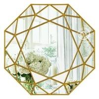 Современное круглое зеркальное стекло трюмо геометрическое настенное зеркало декоративное зеркальное настенное искусство