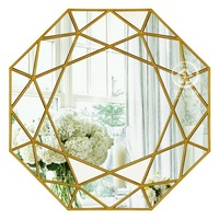 Modern round mirror glass console mirror geometric wall mirror decorative mirrored wall art