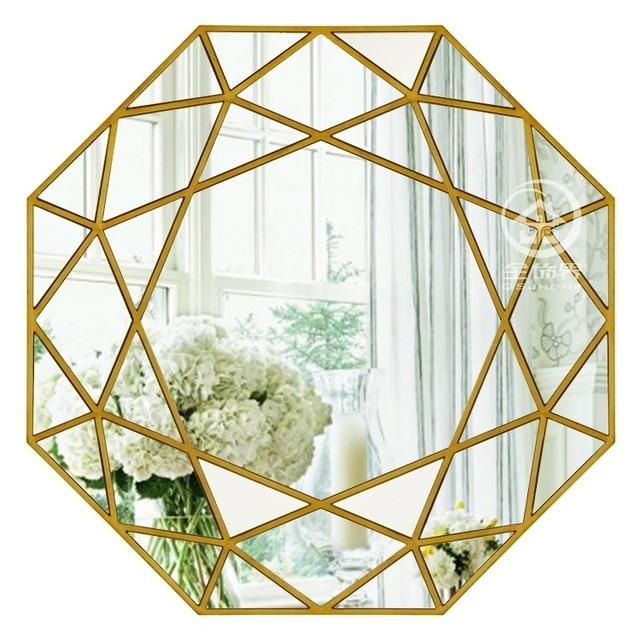 Moderne miroir rond en verre console miroir g om trique for Miroir geometrique