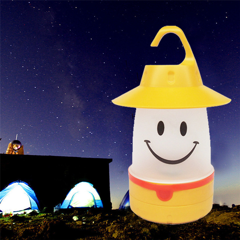 High Quality Smile LED Lantern Cute Camping Glamping Multi Use For Kids And Adults Fun Light