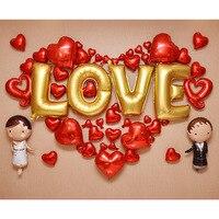 1 مجموعة العريس العروس الزفاف اللباس احباط بالونات رومانسية خاتم الزواج الحب بالون بالون القلب خطوبة تخطيط