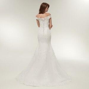 Image 3 - Fansmile Real Photo Vestidos De Novia Vintage Kant Mermaid Wedding Dress 2020 Plus Size Bruidsjurken Robe De Mariage FSM 165M