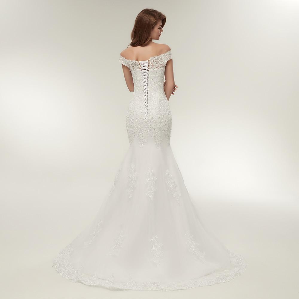 Image 3 - Fansmile Real Photo Vestidos de Novia Vintage Lace Mermaid Wedding Dress 2019 Plus Size Bridal Gowns Robe de Mariage FSM 165M-in Wedding Dresses from Weddings & Events