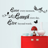 LOVE COSY Hot Sale Eco Friendly Inspiring Characters Wall Sticker PVC Livingroom Bedroom Decorative Stickers Home
