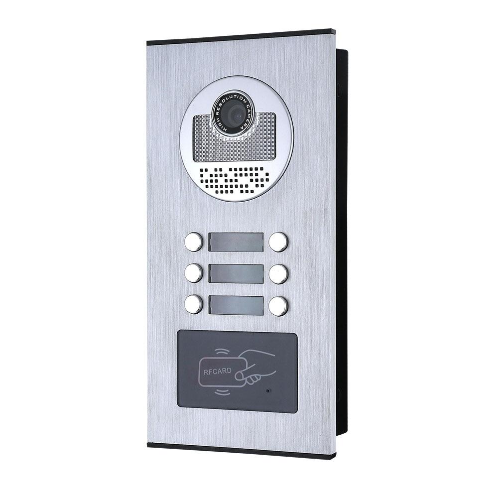 porta telefone campainha intercom sistema rfid ir cut 04