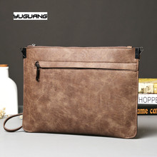 Retro mad horse PU leather hand bag business casual han edition single shoulder bag crosspack hand