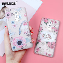 Case For Huawei Honor 7X Case Honor 9 10 Lite 6X P8 P9 P10 P20 Lite Nova 2 Plus 3E Relief Soft TPU Flowers Back Covers Coque(China)