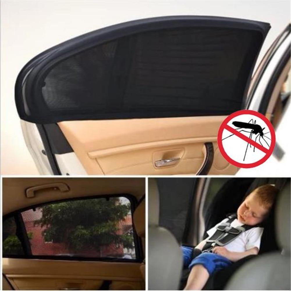 2Pcs Black Car Vehicle Door Window UV Protection Shield Sun Shade Universal
