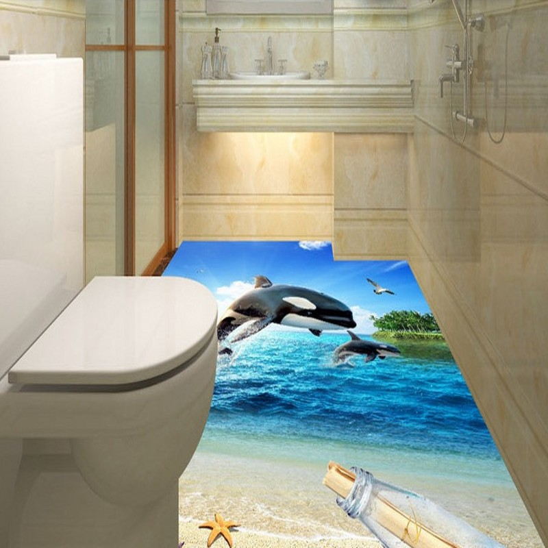 Free Shipping 3D surf beach shell sea star living room bathroom floor self-adhesive bedroom kitchen study flooring mural free shipping marble texture parquet flooring 3d floor home decoration self adhesive mural baby room bedroom wallpaper mural