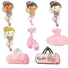 (Elija el diseño primero) 10 unids/bolsa Ballet serie bailarina, tutú rosa, bolsa de Ballet, bailarinas colgantes para niña para fabricación de collares DIY