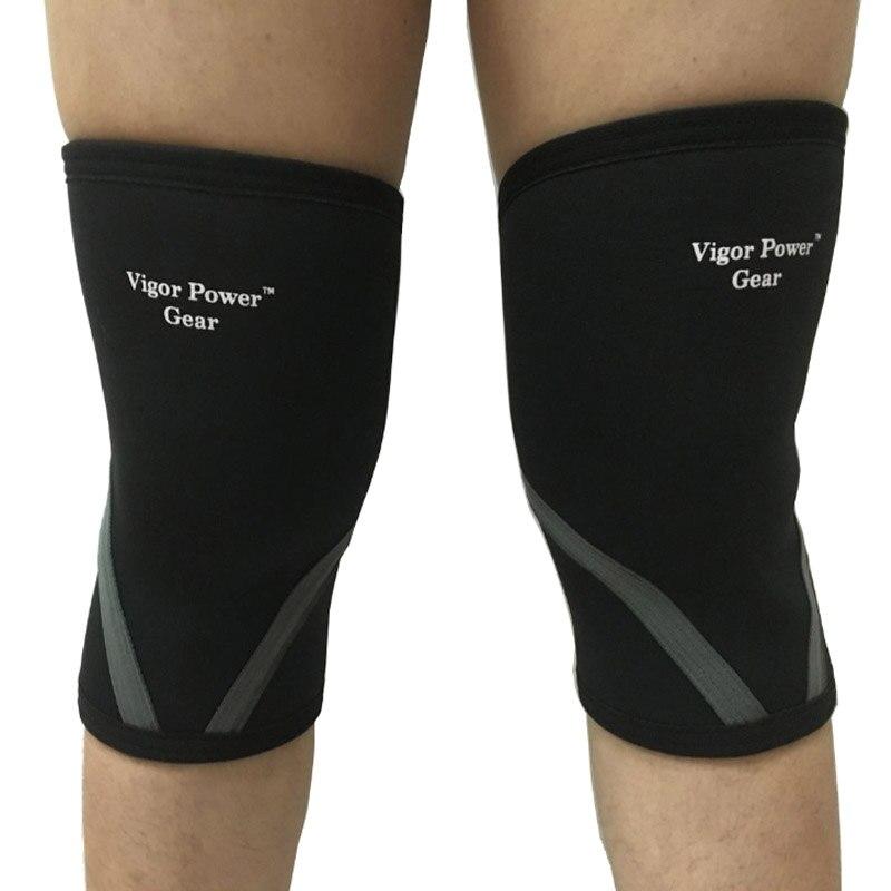 Prix pour Vigor Power Gear 7mm stiff néoprène genouillères sports de puissance poids de levage forte SBR genou manches pour fitness crossfit