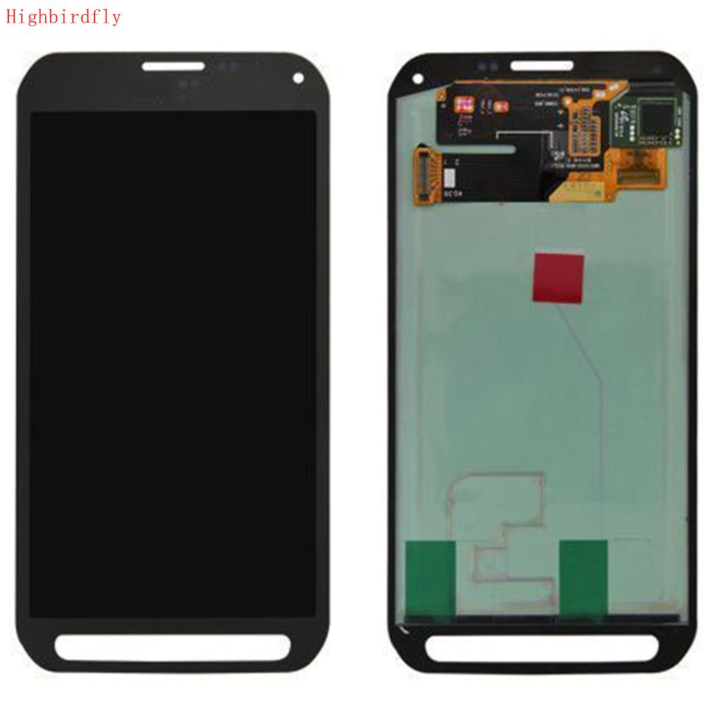 Highbirdfly For Samsung Galaxy S5 Active G870F <font><b>G870</b></font> G870A Lcd Screen Display+Touch Glass DIgitizer Assembly Repair Amoled Green image