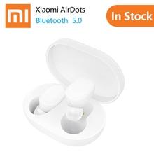100% Оригинальные Xiao mi AirDots Bluetooth наушники Молодежная версия стерео mi ni Беспроводная Bluetooth 5,0 гарнитура с mi c наушники