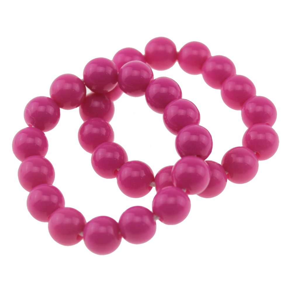 Children Bracelets Girl Acrylic Imitation Pearls With Bracelet Birthday Gift Jewelry Children' Toy Cosplay Accessory