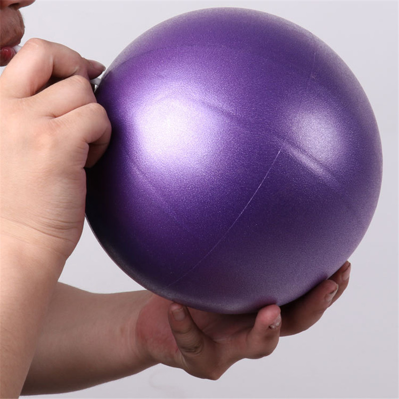 1 Pcs 25cm Yoga Ball Physical Fitness Appliance Exercise Balance Wheat Tube Ball For Trainer Balance Gymnastic Yoga Pilates 0.22