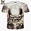 Nueva casual tops tee harajuku verano 3d camisetas hip hop gráficos cráneo camiseta de la impresión 3d camiseta para hombre