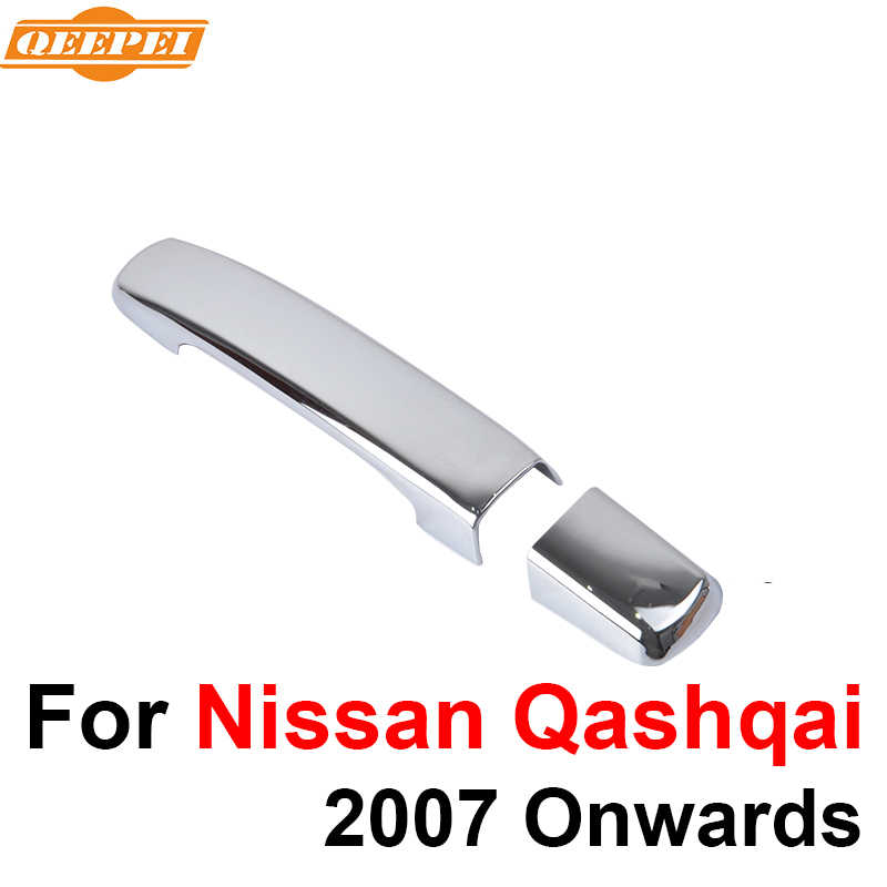 QEEPEI ABS 8PCS Car Door Handle Cover For Nissan Qashqai 2007 2008 2009 2010 2011 2012 2013 2014 2015 2016  QDC005