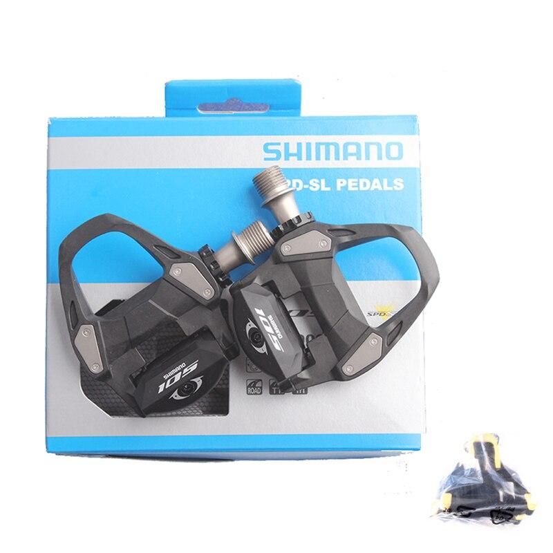 SHIMANO 105 PD 5800 R7000 Auto-Verrouillage SPD Pédales avec SH11 Crampons Vélo Racing Vélo De Route Accessoires SPD Pédales