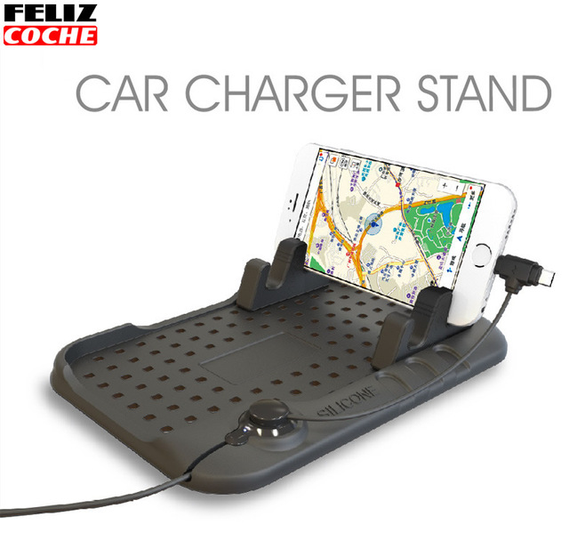 Universal Car Phone Holder Pad Car Dashboard Mobile Phone Holder Anti-Slip Mat Navigation Mobile Phone Usb Charger A7063