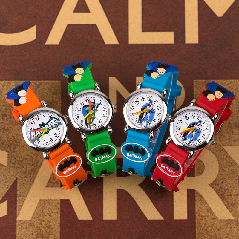 New 2019 Batman 3D Child Watch Kids Rubber Wristwatches Children Clock Boys Girls Students Watch Relogio Kol Saat Dropshipping