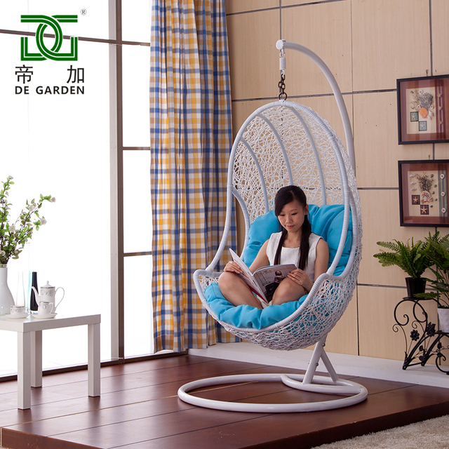 indoor swingasan chair craigslist dining room chairs bird nest hanging basket swing rattan outdoor rocking