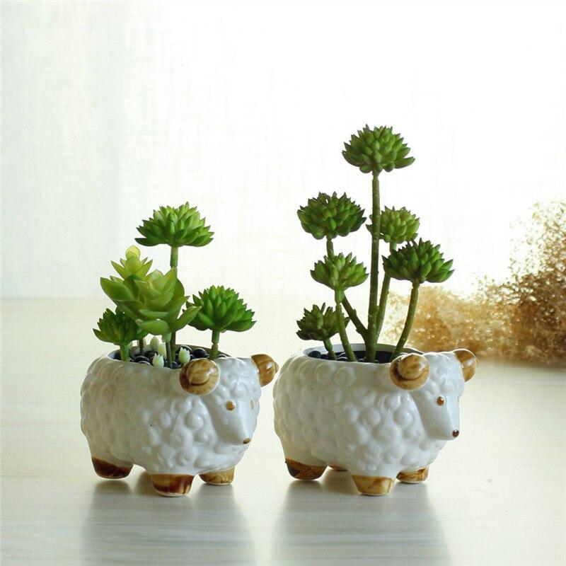 New Creative Flower Pot Ceramic Lamb Animal Sheep