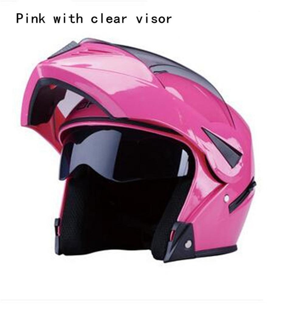 Pink DOT Approve New High Quality Flip UP Helmets motorcycle Winter Racing Motorbike helmets Casco Capacete Casque Moto Helmet