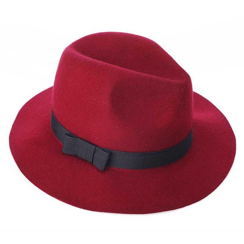 397d4375440bf 2017 nuevo Unisex Negro jazz Sombreros de Ala del Otoño Invierno de la Alta  Calidad 100% de Lana de Sombrero de La Iglesia Para Las Mujeres Hombres ...