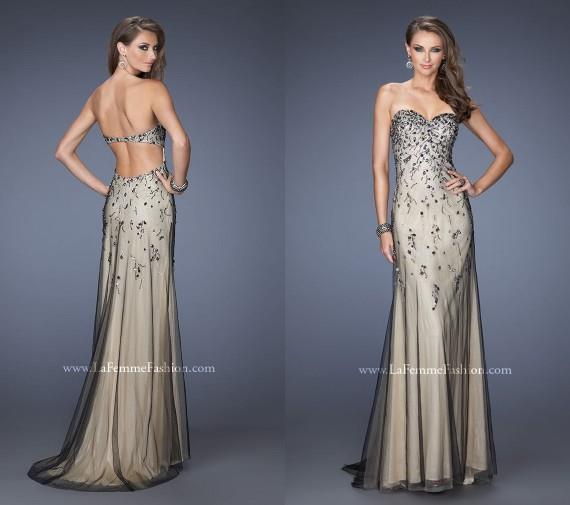 Gold color prom dresses