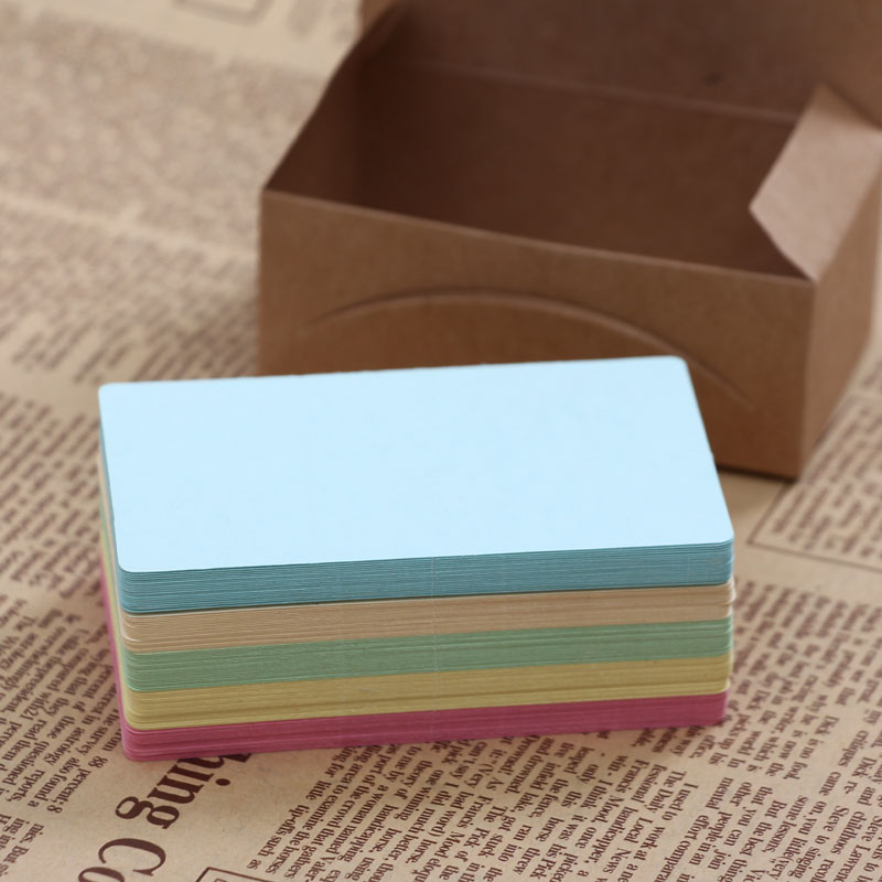 VIVID Color Blank Message Paper 250GMS Rounded Color Graffiti Message Word Cards 400 Sheets