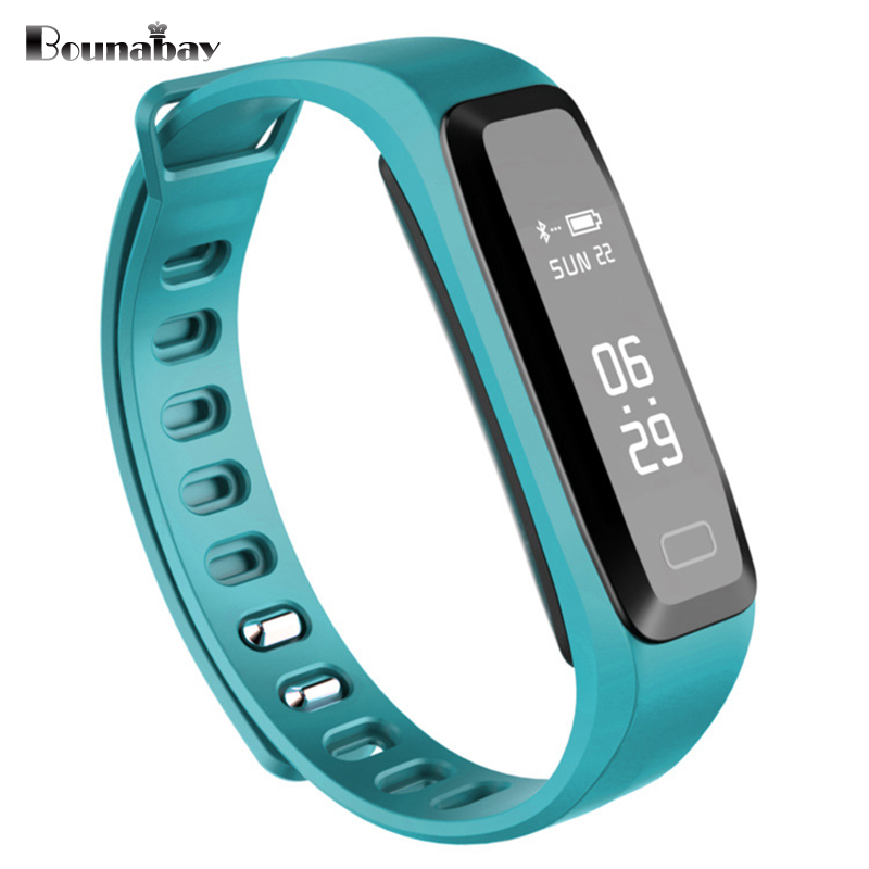 BOUNABAY Heart Rate Pedometer Bluetooth 4.0 Smart woman watch for apple android phone waterproof Camera women Clock Touch Clocks