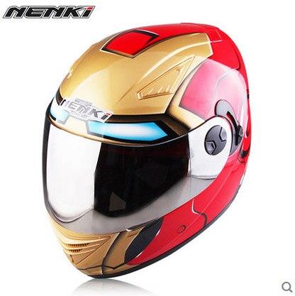 Motorcycle Motorcross helmet Iron Man spider man helmet men and women summer 4 season double lenses