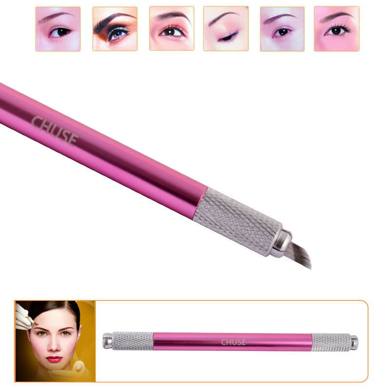 도매 10pcs / lot Chuse M6 최고 질 알루미늄 영원한 눈 썹 메이크업 수동 귀영 나팔 펜 두 머리는 자유롭게 사용될 수있다