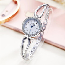 Watches Women Luxury Brand Stainless Steel Rhinestone Wristwatches Ladies Dress Quartz Watches Siver Relogio feminino AC075