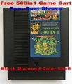 Free 500 in 1 Game Cart, 72 Pins NES Game Cartridge Replacement Plastic Shell, Free Dust Sleeve