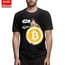Mens O-neck HODL Your Cryptos Bitcoin Tee Shirt Fashion T-Shirt S-6XL Homme T-shirt