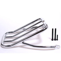 Motorcycle Rear Fender Luggage Shelf Rack Case Chrome For Harley Sportster Iron 883 XL883N 2009 2017 48 XL1200X 72 XL1200V 12 16