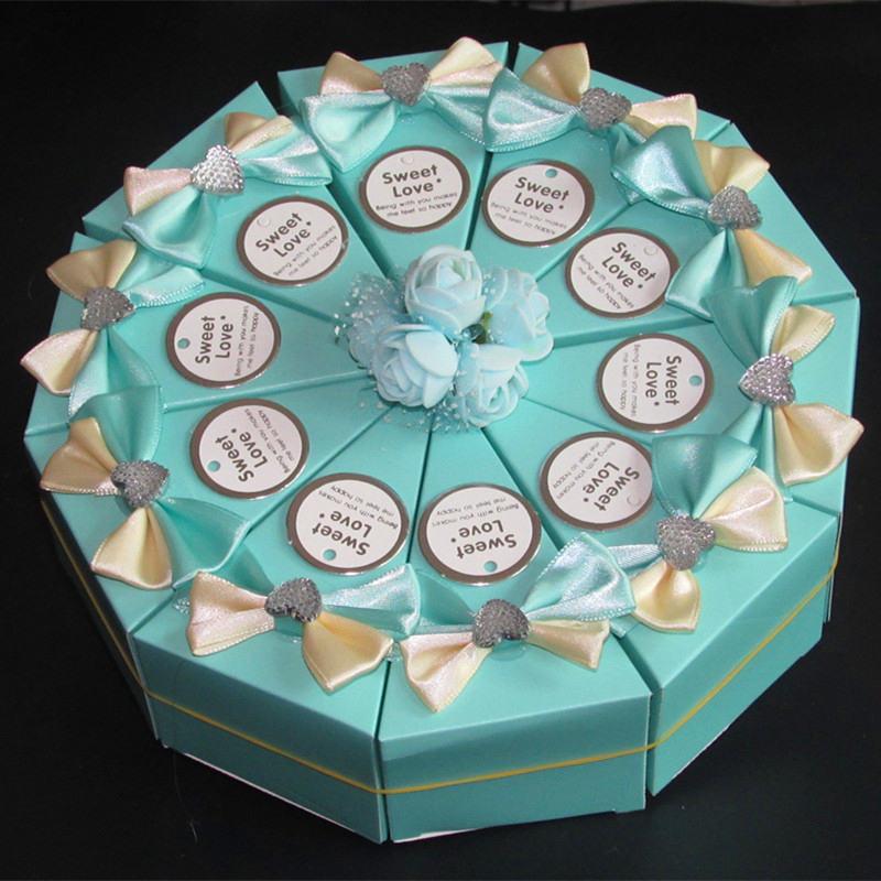 12 色の結婚式の装飾テーブル収納ギフトボックス、decoracion祭りキャンディボックス、白蝶ネクタイ装飾キャンディー段ボール箱