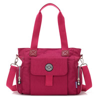 Hot Sale Women Ultra Light Nylon Waterproof Large Capacity Mother Bag With Cute Animal Pendant Casual
