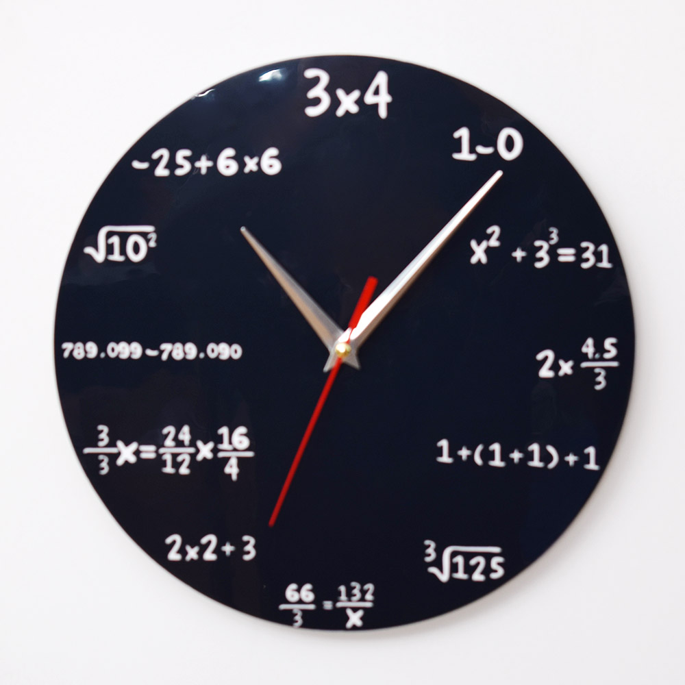 Large Creative Educational Equipment Wall Clock Mathematics Blackboard Pop Quiz Clock Modern Design Big Wall Watches Gift hot usb c hub hdmi vga ethernet lan rj45 adapter for macbook pro type c hub card reader 2 usb 3 0 type c charging port