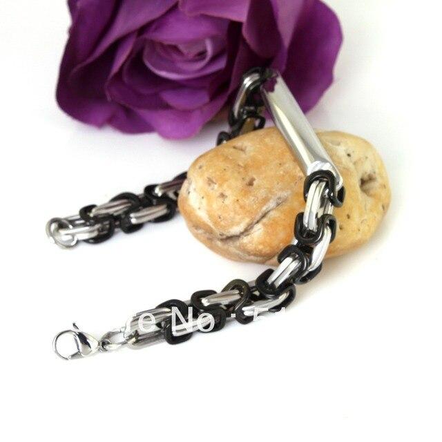 Fashion 8mm Stainless Steel Byzantine Bracelet Mens Jewelry Chains 2013,PUNK, ROCK, Biker, Wholesale&retail