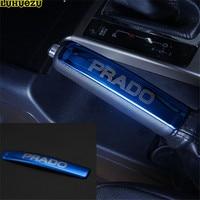 Stainless Steel Interior Parking Handbrake Decoration Cover Trim For Toyota Land Cruiser Prado FJ 150 2010