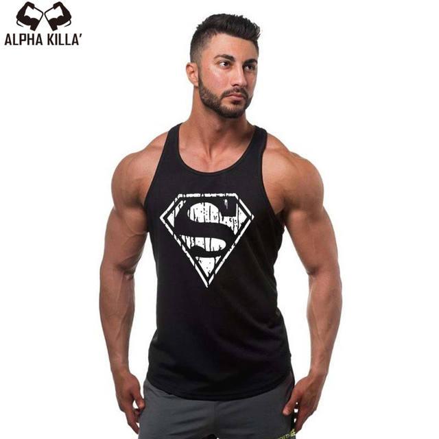 Fashion Mens Bodybuilding Vest Tanks Tops Cotton Sleeveless Mens Y Back Stringer Tank Top Undershirt Gyms Clothing