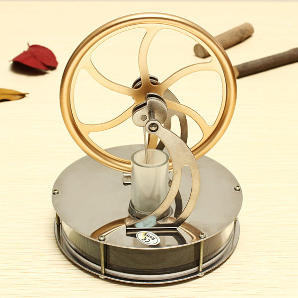 Hot Sale Discovery Toys Low Temperature Stirling Engine Model Educational Toy Gift For Kid Children Adult colorfull light mirror reflection glass ball stage festival hanging ball motor 10inch 19cm